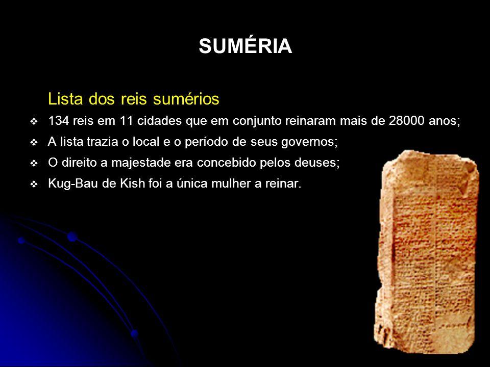 SUMÉRIA Lista dos reis sumérios