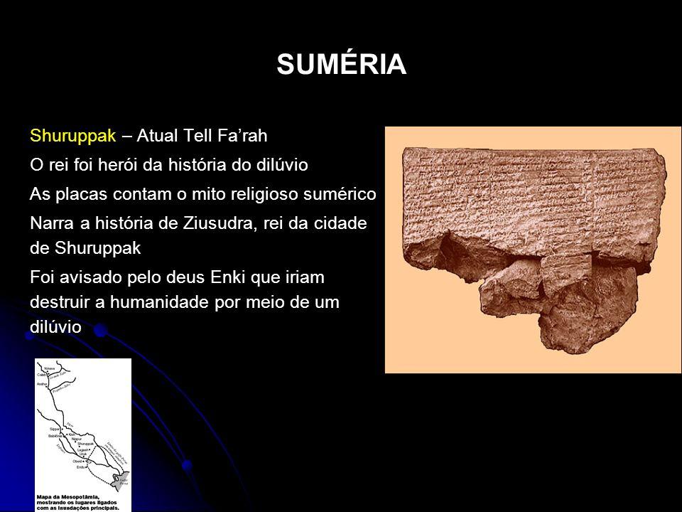SUMÉRIA Shuruppak – Atual Tell Fa'rah