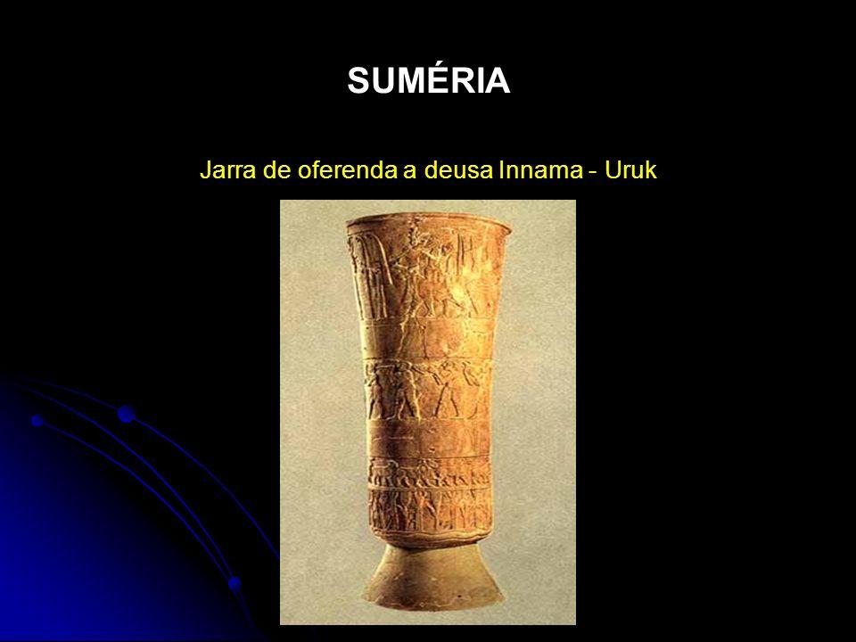 Jarra de oferenda a deusa Innama - Uruk
