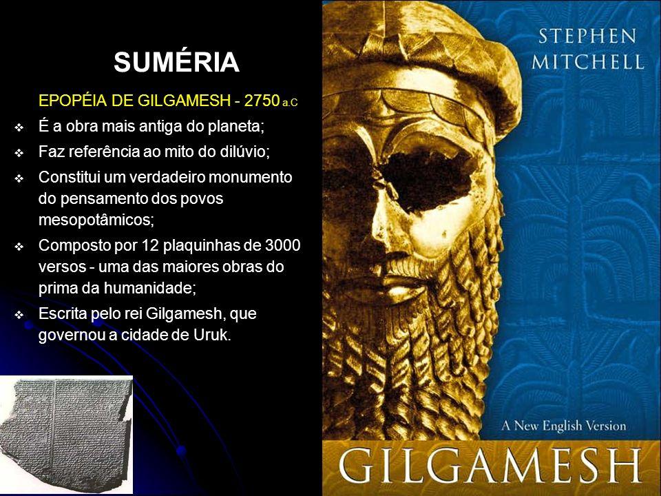 SUMÉRIA EPOPÉIA DE GILGAMESH - 2750 a.C