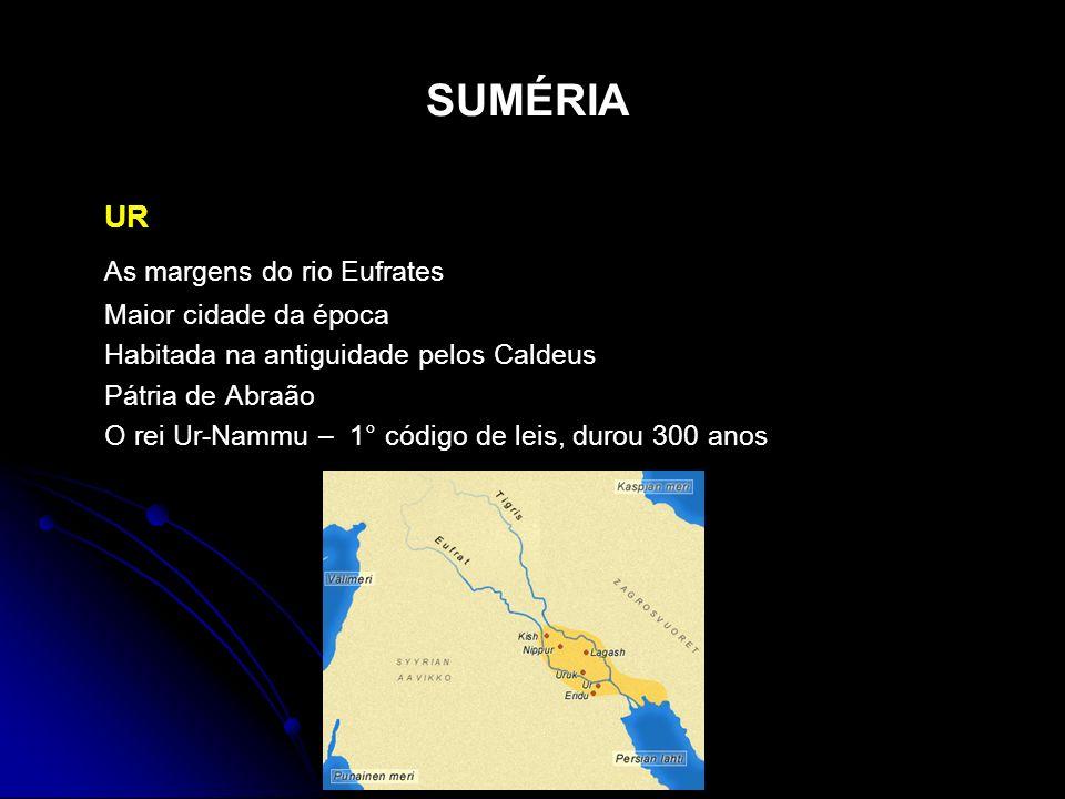 SUMÉRIA UR As margens do rio Eufrates Maior cidade da época