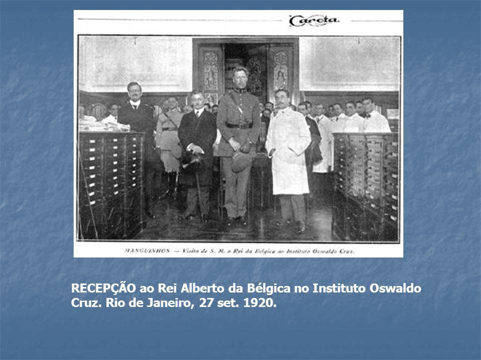 RECEPÇÃO ao Rei Alberto da Bélgica no Instituto Oswaldo Cruz