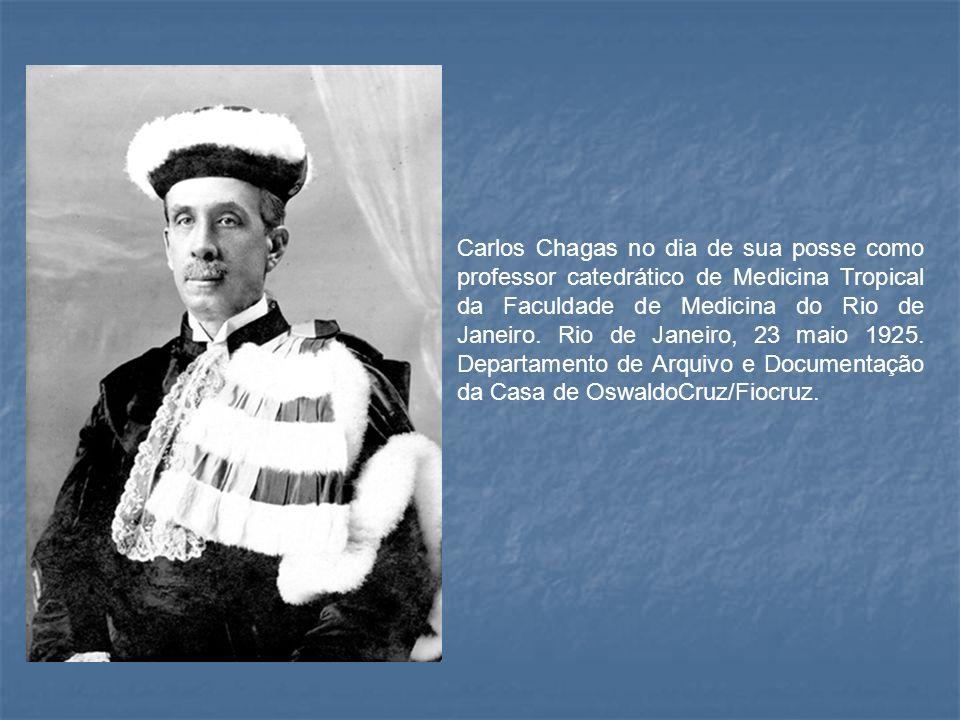 Carlos Chagas no dia de sua posse como professor catedrático de Medicina Tropical da Faculdade de Medicina do Rio de Janeiro.