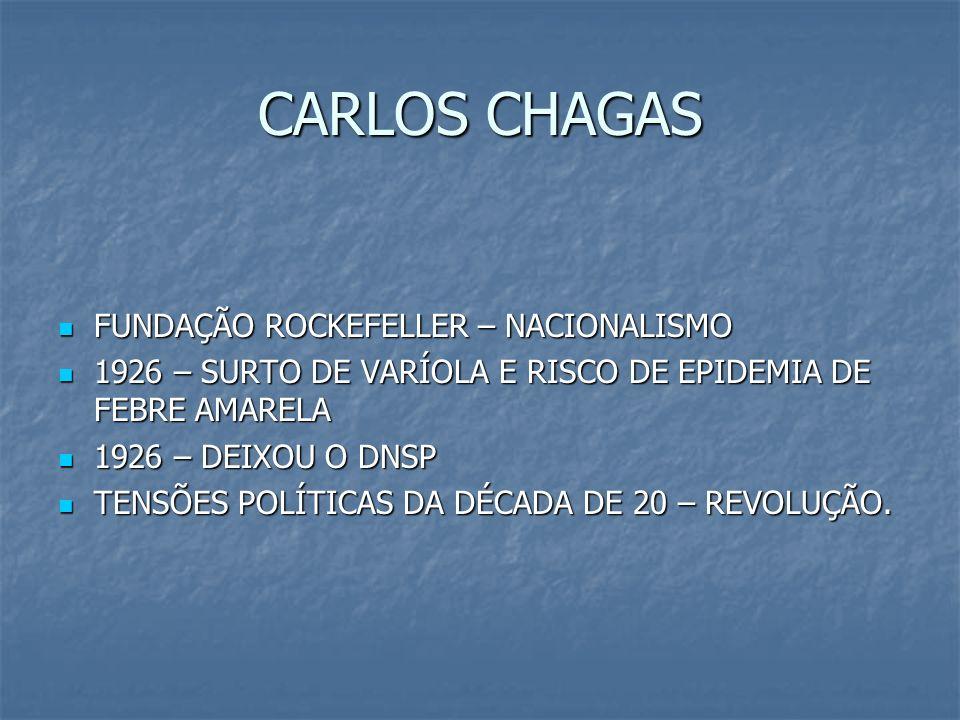 CARLOS CHAGAS FUNDAÇÃO ROCKEFELLER – NACIONALISMO