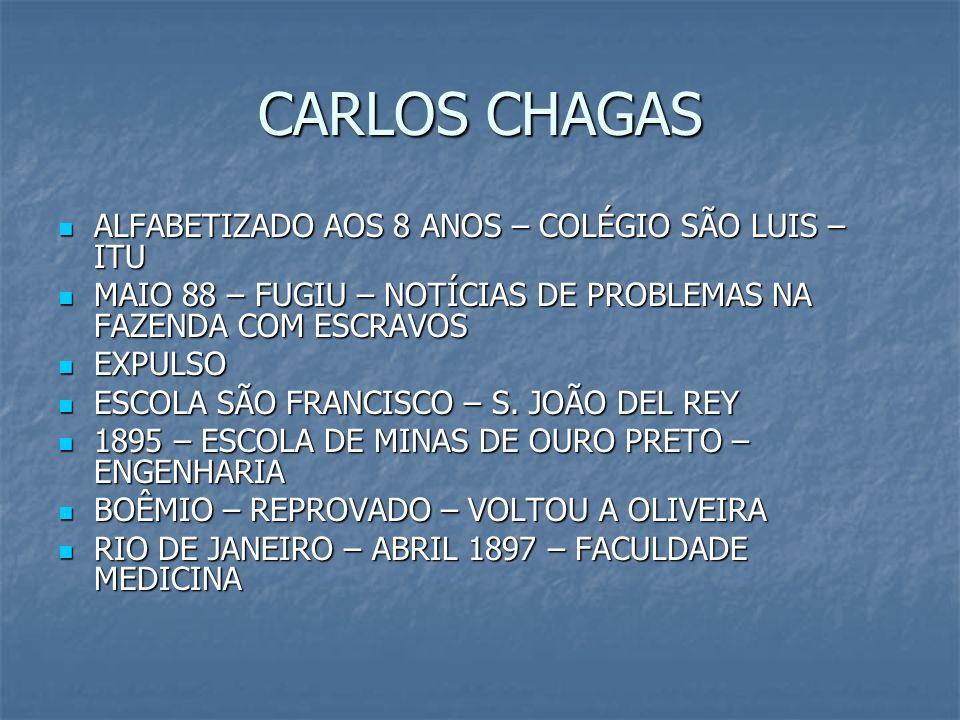 CARLOS CHAGAS ALFABETIZADO AOS 8 ANOS – COLÉGIO SÃO LUIS – ITU