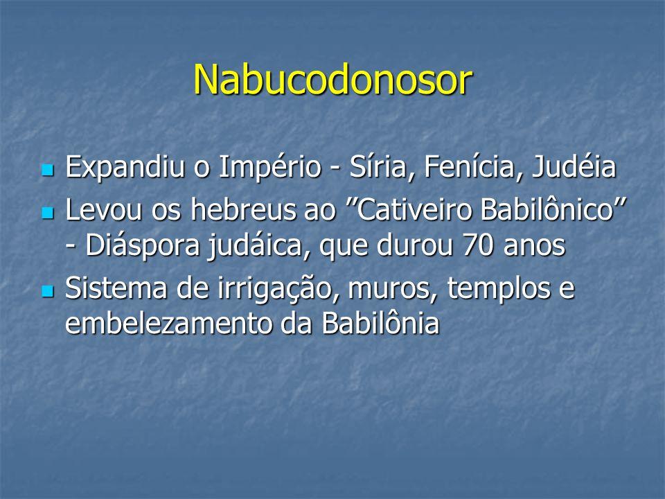 Nabucodonosor Expandiu o Império - Síria, Fenícia, Judéia