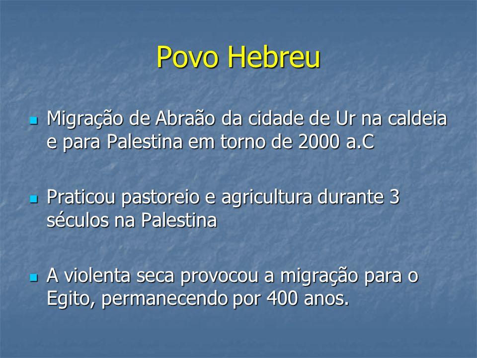 Povo Hebreu Migração de Abraão da cidade de Ur na caldeia e para Palestina em torno de 2000 a.C.