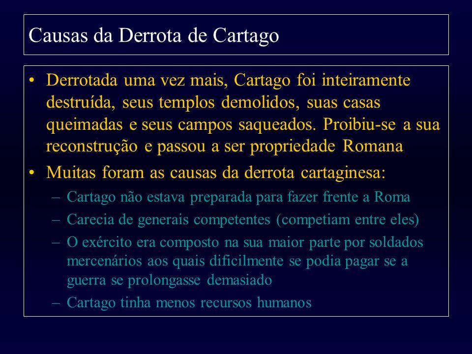Causas da Derrota de Cartago