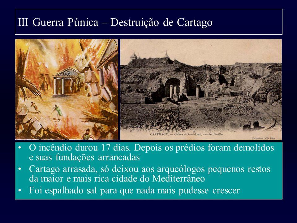 III Guerra Púnica – Destruição de Cartago