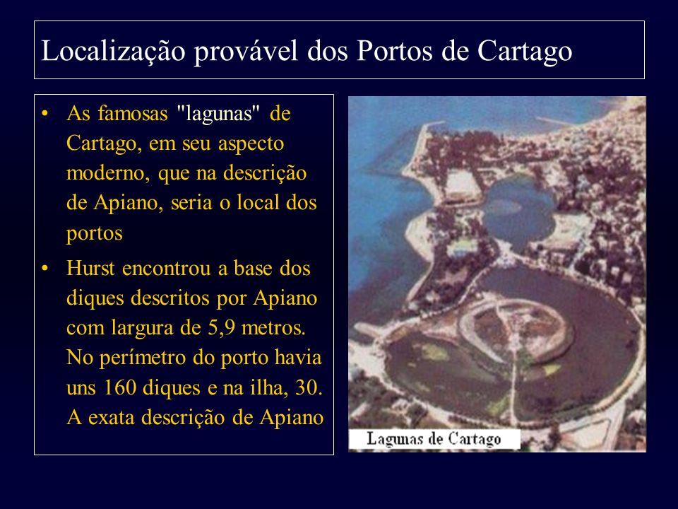 Localização provável dos Portos de Cartago