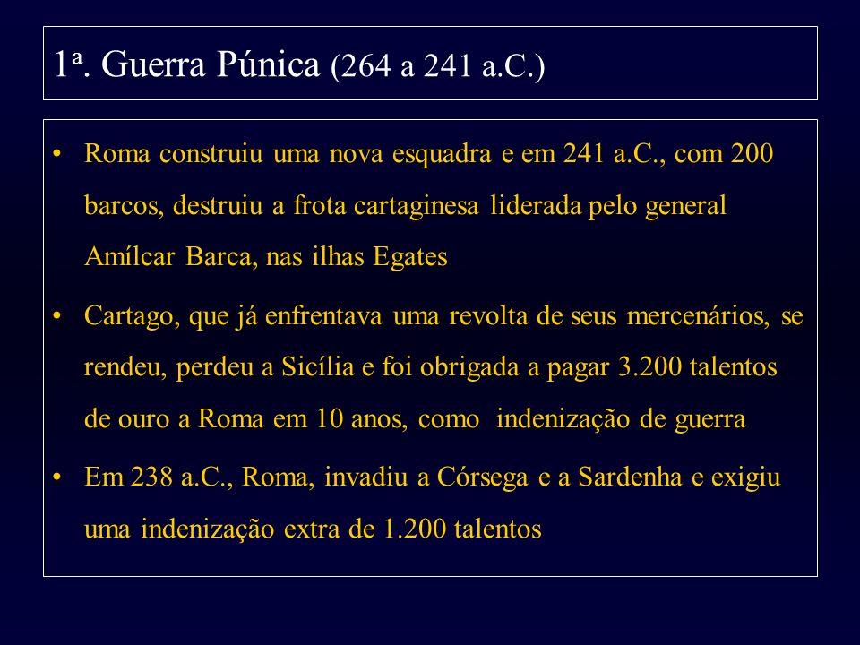 1a. Guerra Púnica (264 a 241 a.C.)