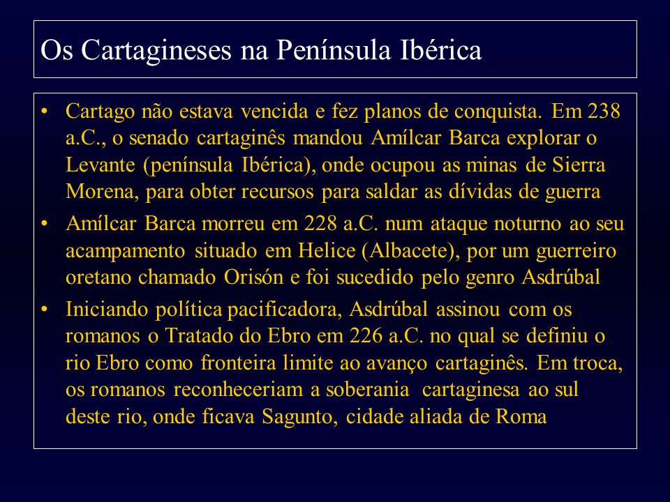 Os Cartagineses na Península Ibérica