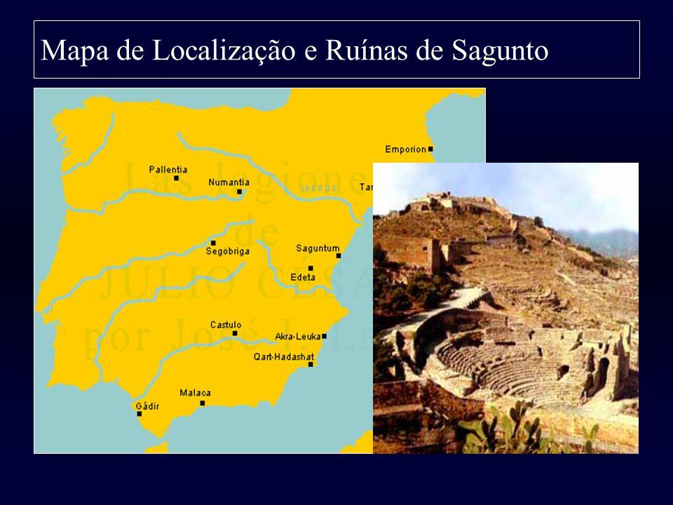 Mapa de Localização e Ruínas de Sagunto
