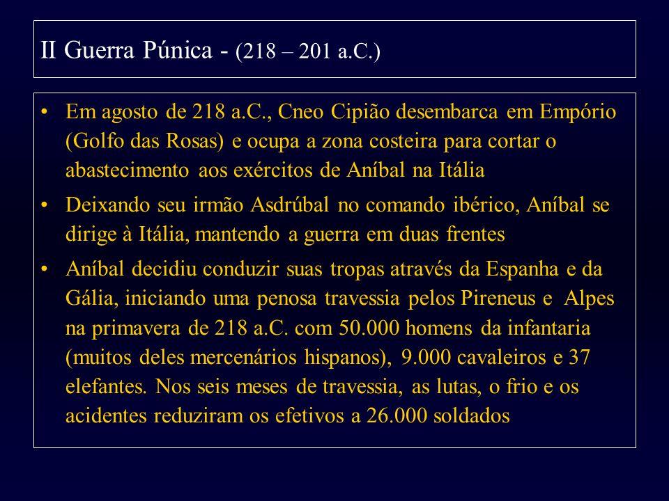 II Guerra Púnica - (218 – 201 a.C.)