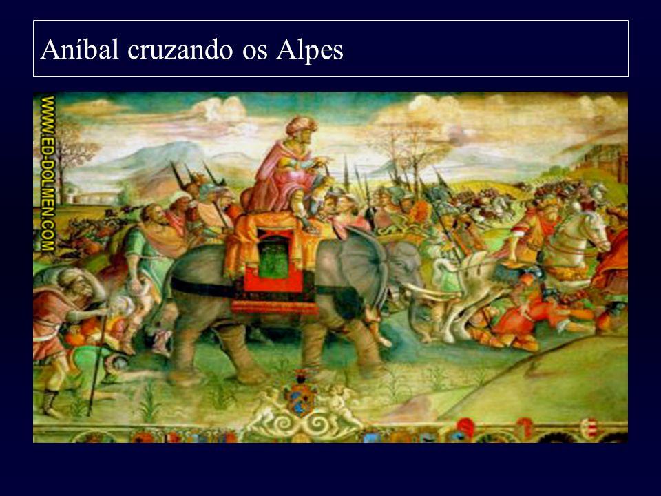 Aníbal cruzando os Alpes