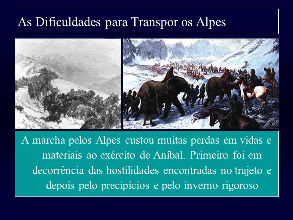 As Dificuldades para Transpor os Alpes