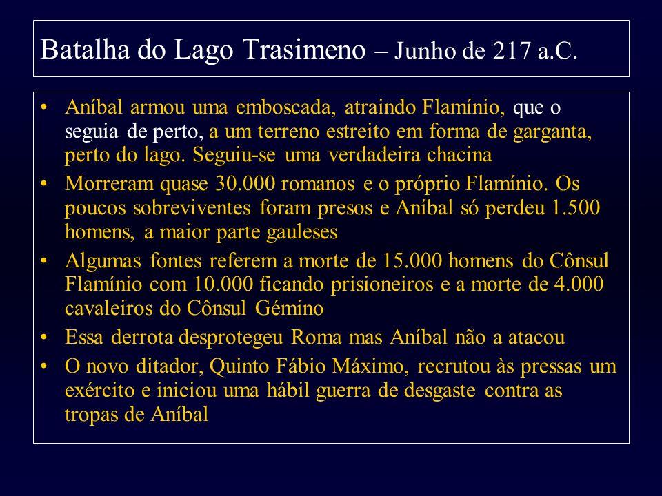 Batalha do Lago Trasimeno – Junho de 217 a.C.