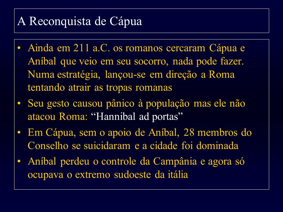 A Reconquista de Cápua