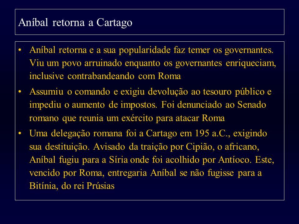 Aníbal retorna a Cartago