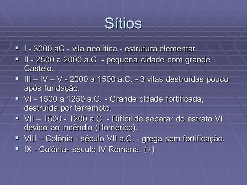 Sítios I - 3000 aC - vila neolítica - estrutura elementar.