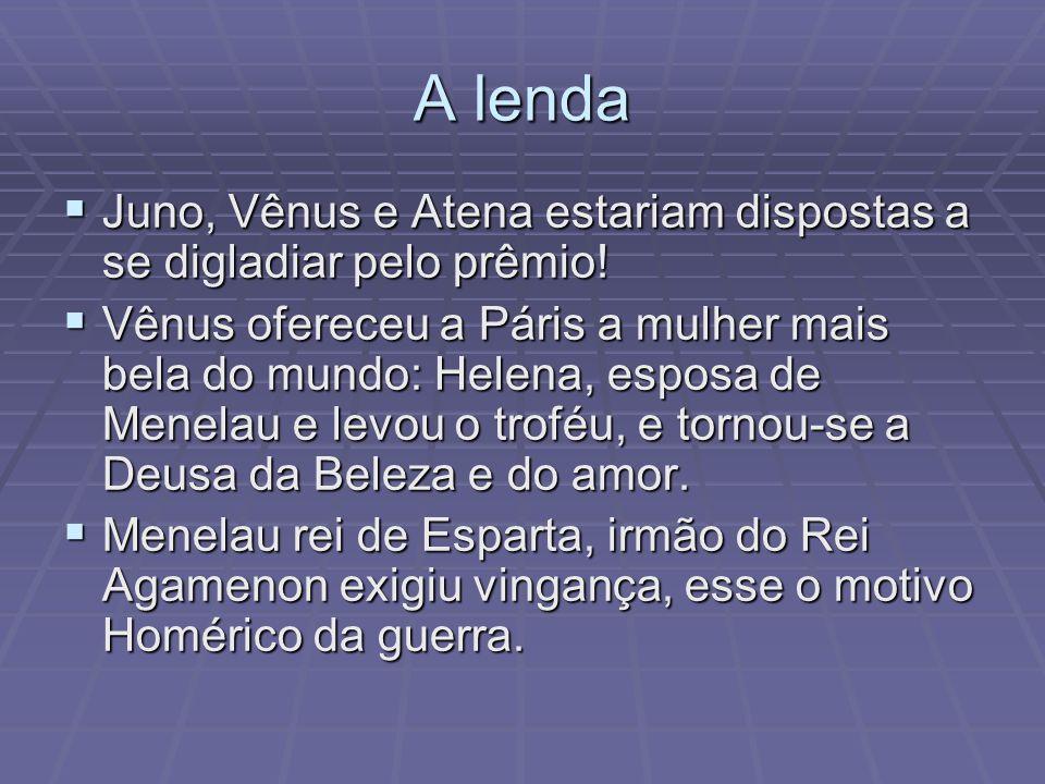 A lenda Juno, Vênus e Atena estariam dispostas a se digladiar pelo prêmio!
