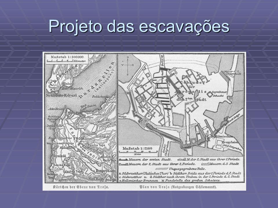 Projeto das escavações