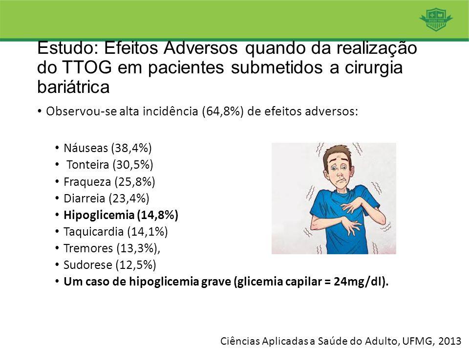 Estudo: Efeitos Adversos quando da realização do TTOG em pacientes submetidos a cirurgia bariátrica