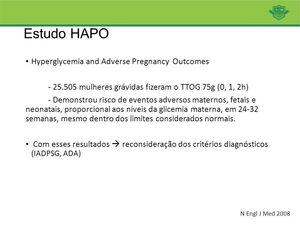 Estudo HAPO Hyperglycemia and Adverse Pregnancy Outcomes