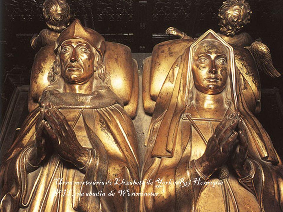 Urna mortuária de Elizabeth de York e Rei Henrique VII , na abadia de Westminster