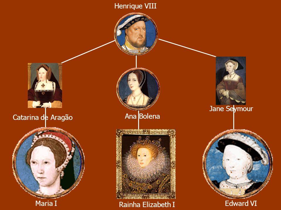 Henrique VIII Jane Seymour Ana Bolena Catarina de Aragão Maria I Rainha Elizabeth I Edward VI