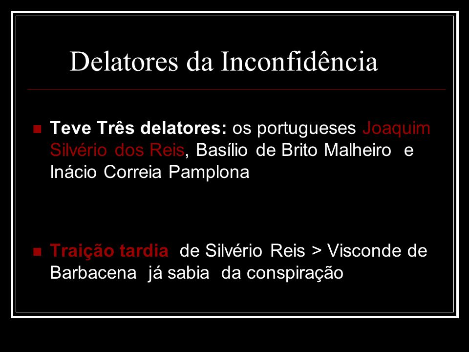 Delatores da Inconfidência