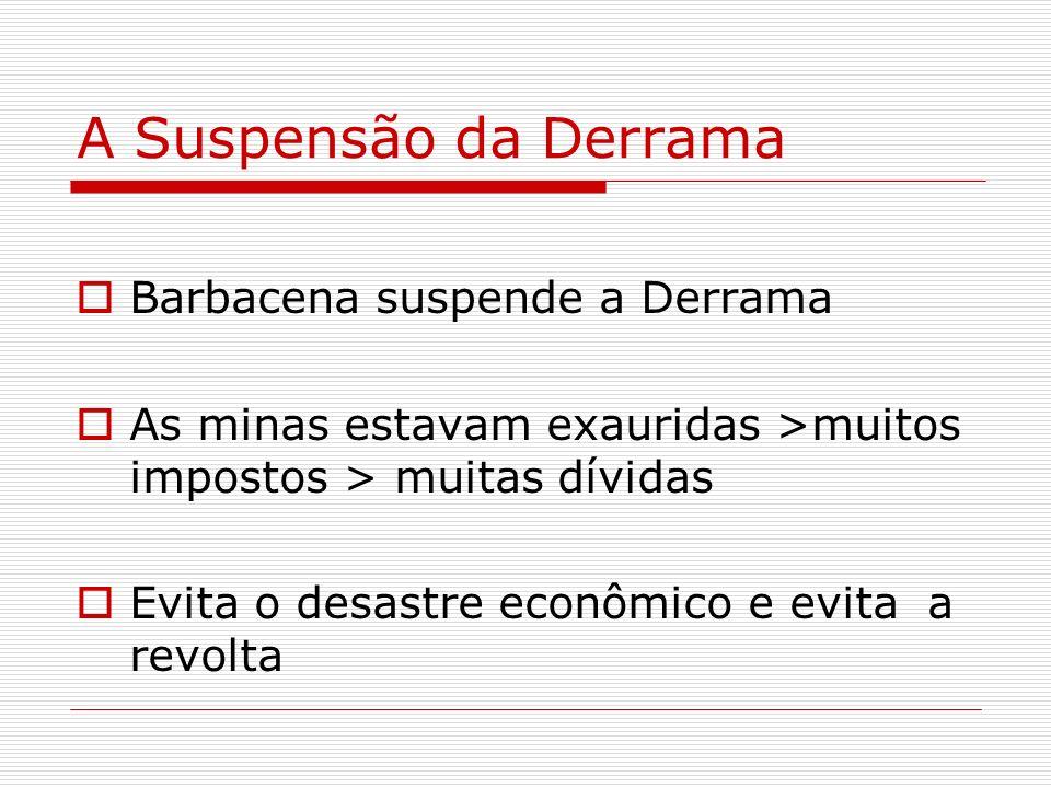 A Suspensão da Derrama Barbacena suspende a Derrama