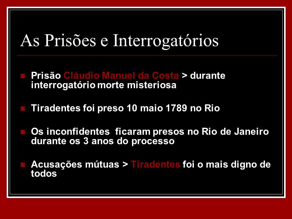 As Prisões e Interrogatórios