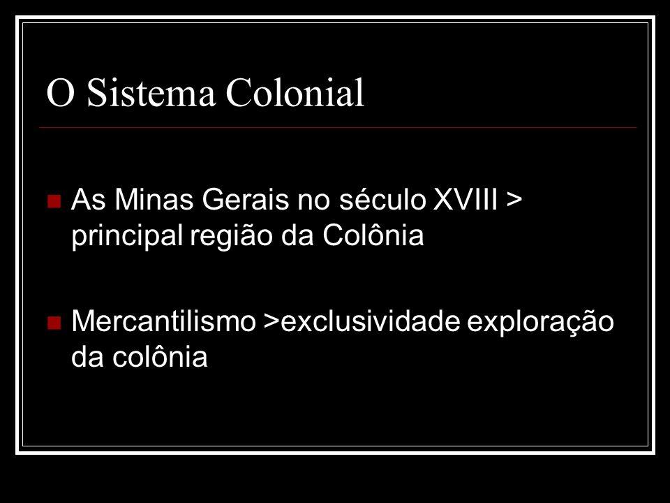 O Sistema Colonial As Minas Gerais no século XVIII > principal região da Colônia.