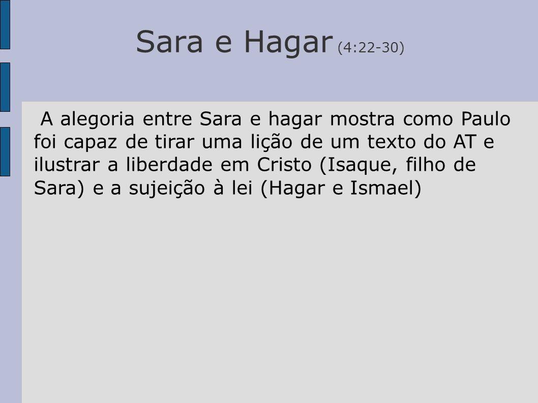 Sara e Hagar (4:22-30)