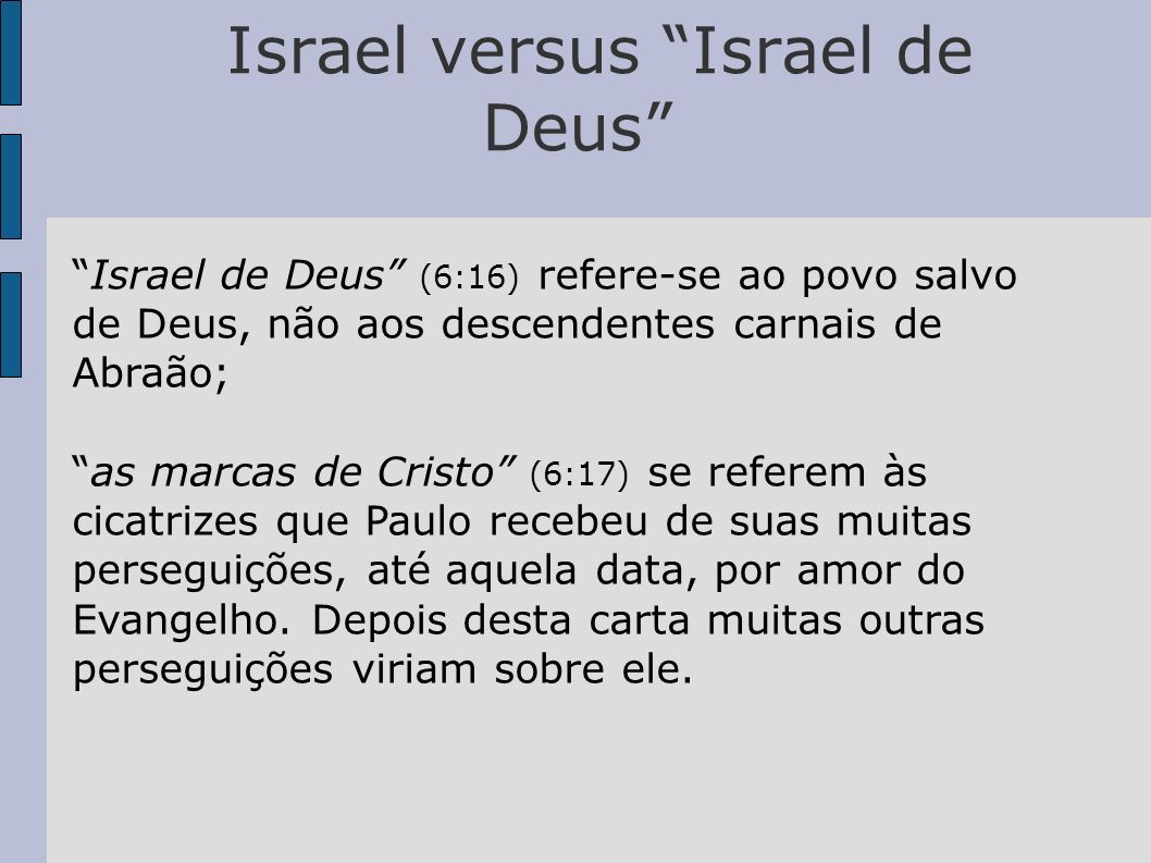Israel versus Israel de Deus