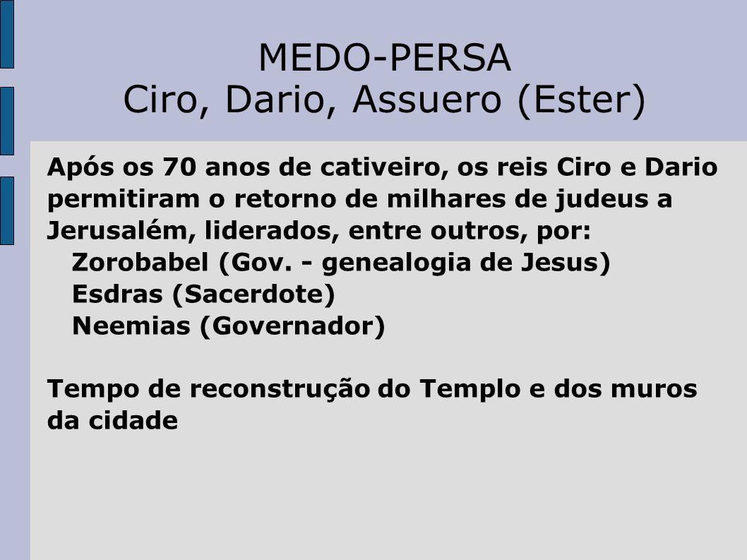 Ciro, Dario, Assuero (Ester)