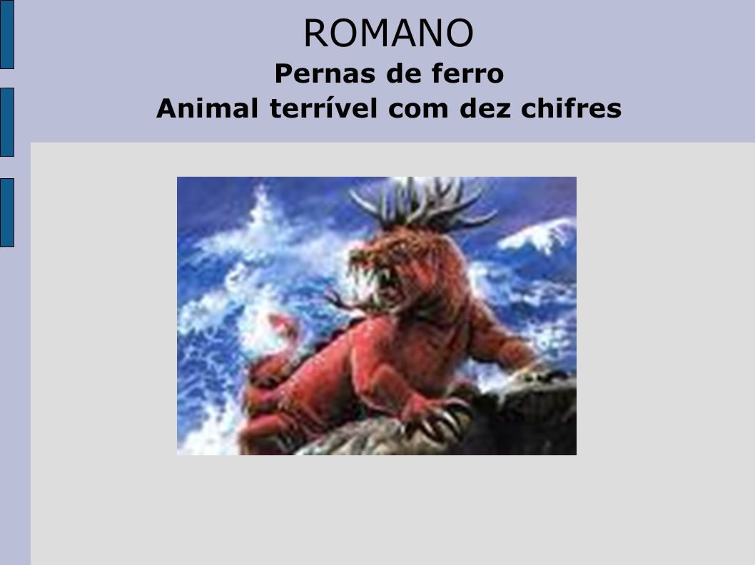 Animal terrível com dez chifres