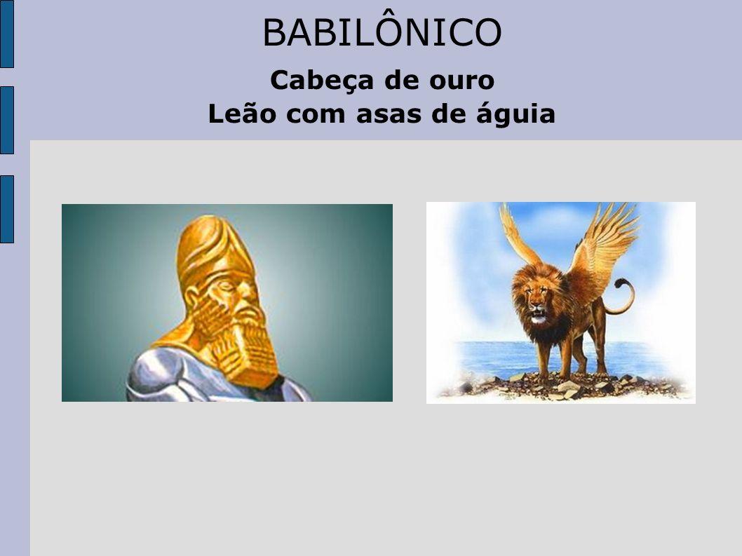 BABILÔNICO Cabeça de ouro Leão com asas de águia