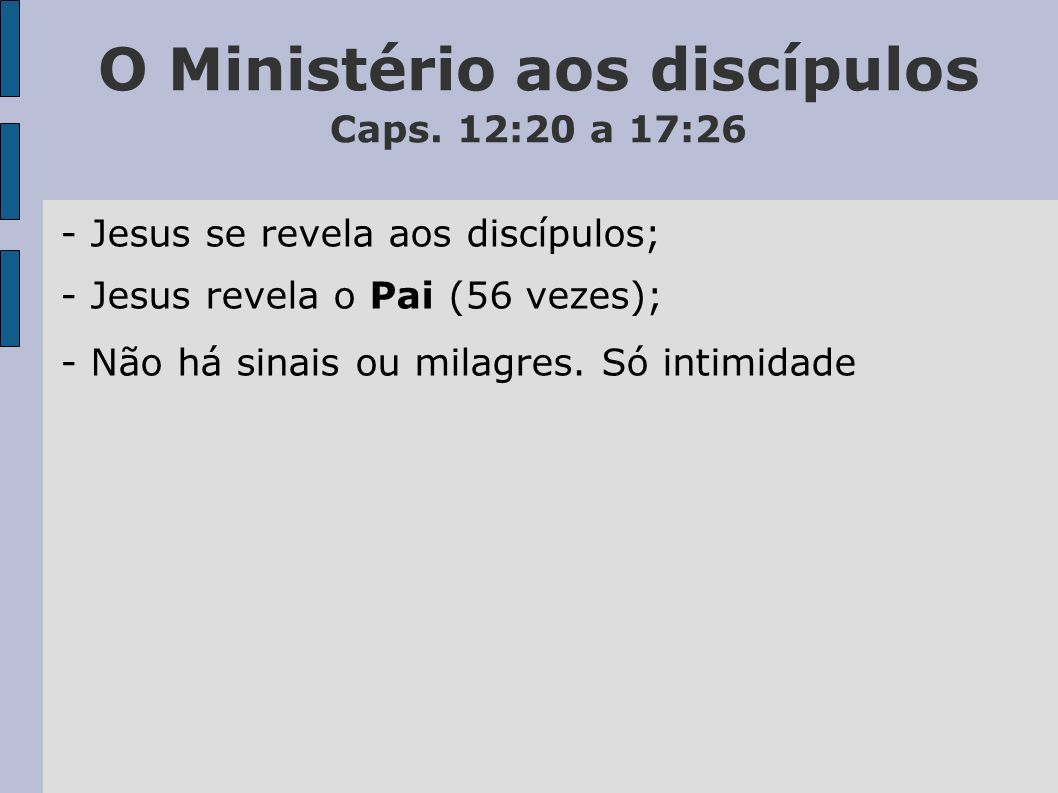 O Ministério aos discípulos