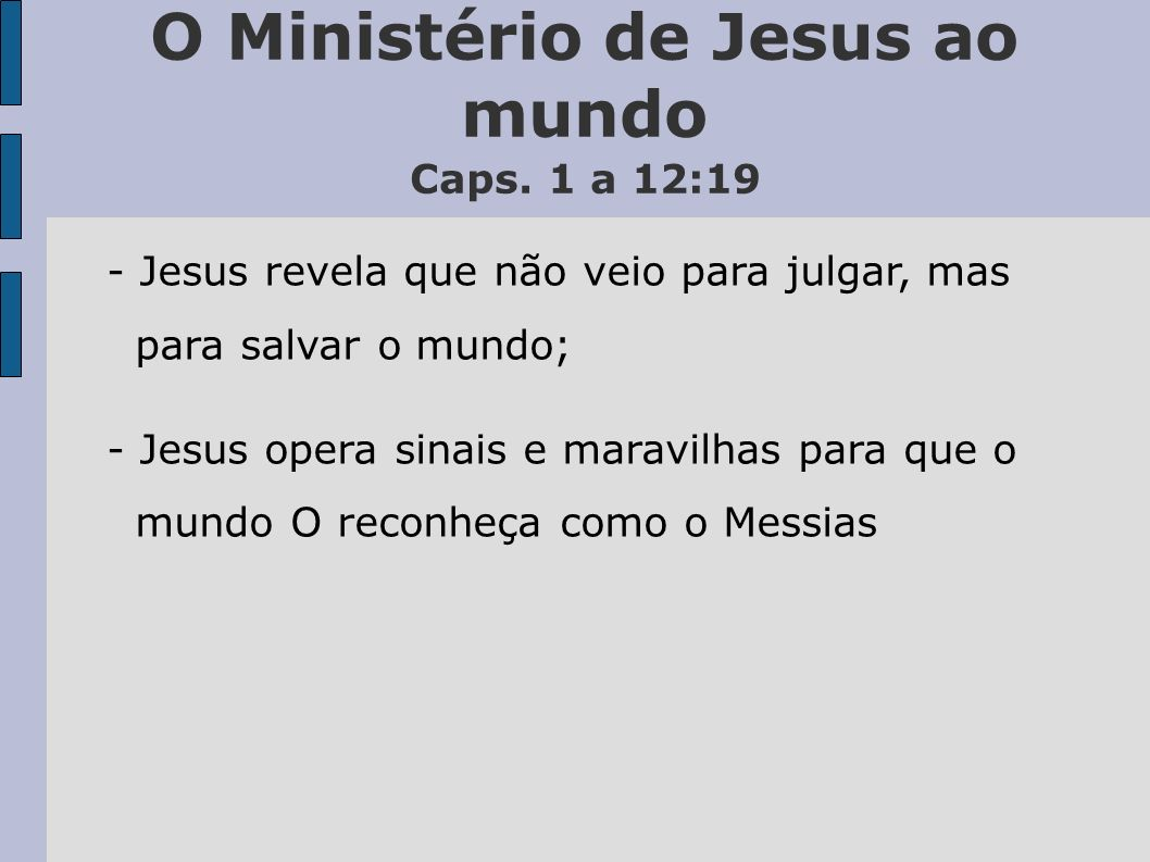 O Ministério de Jesus ao mundo