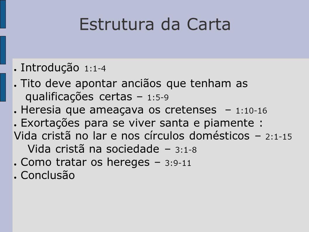 Estrutura da Carta Introdução 1:1-4