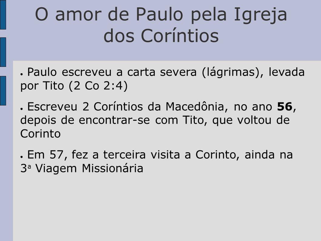 O amor de Paulo pela Igreja dos Coríntios