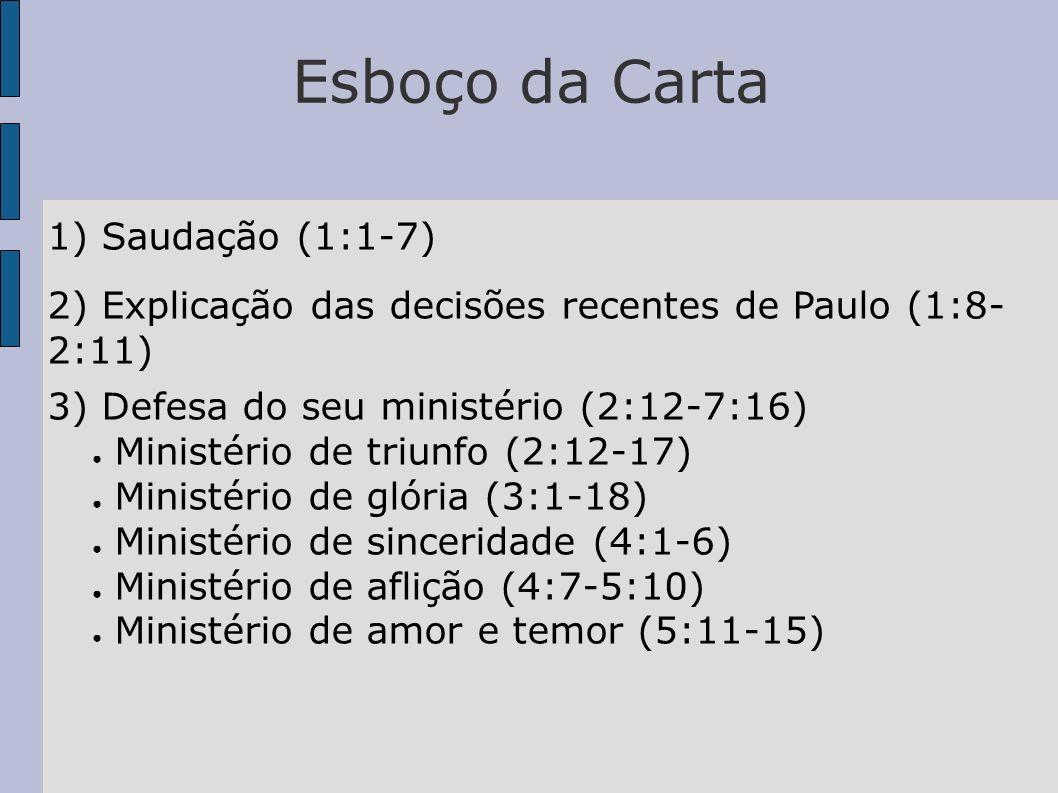 Esboço da Carta 1) Saudação (1:1-7)