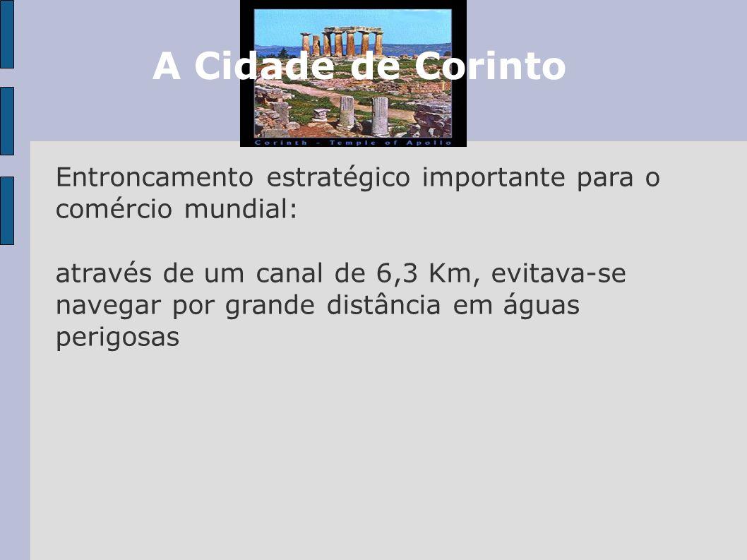 A Cidade de CorintoEntroncamento estratégico importante para o comércio mundial: