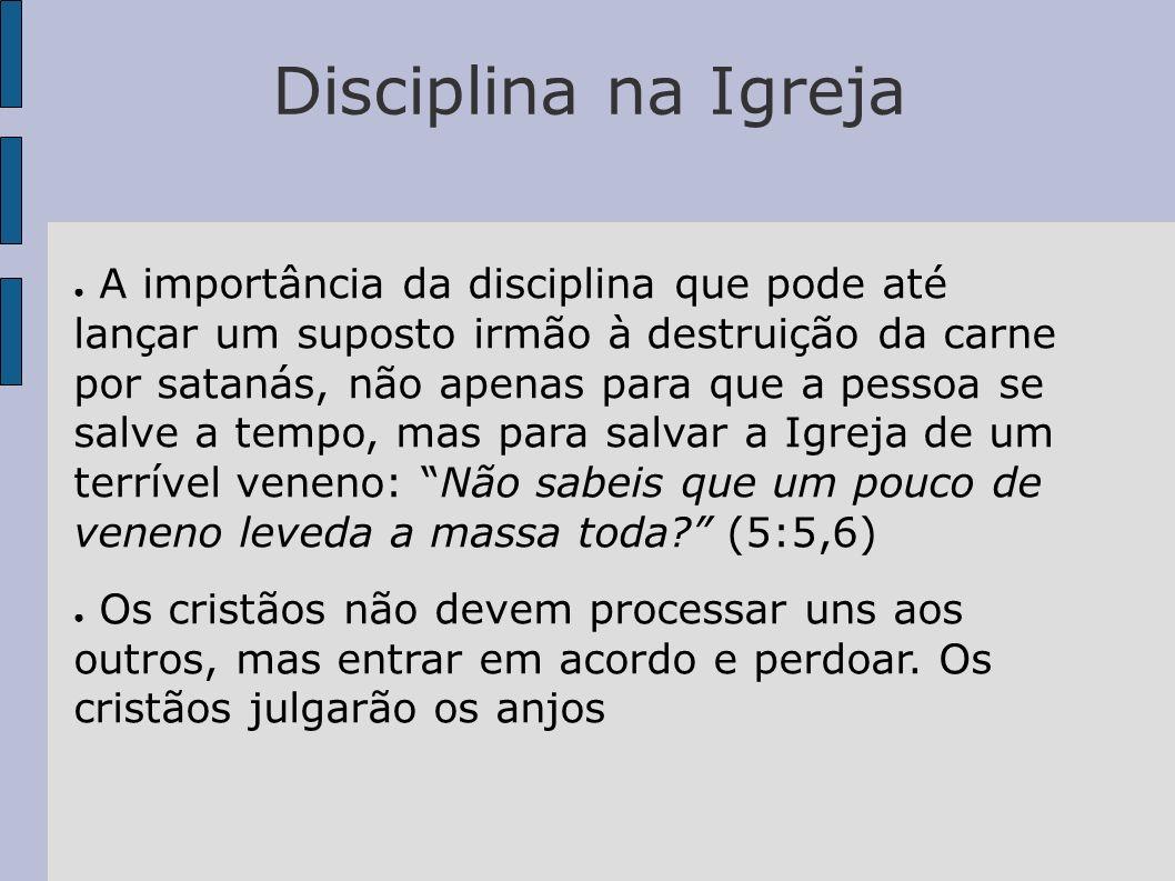 Disciplina na Igreja