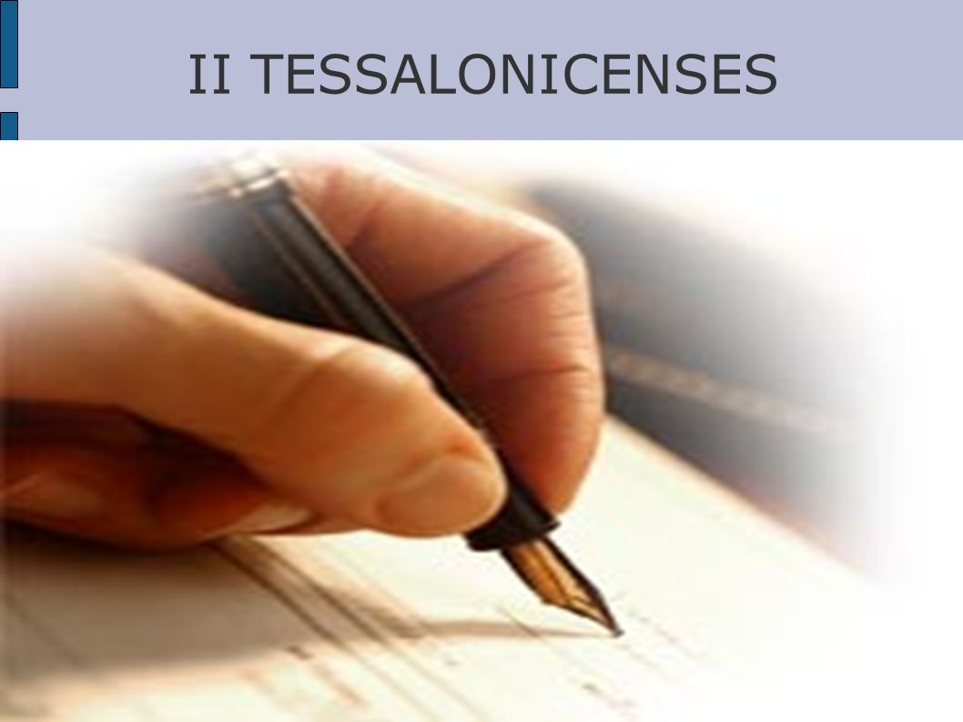 II TESSALONICENSES
