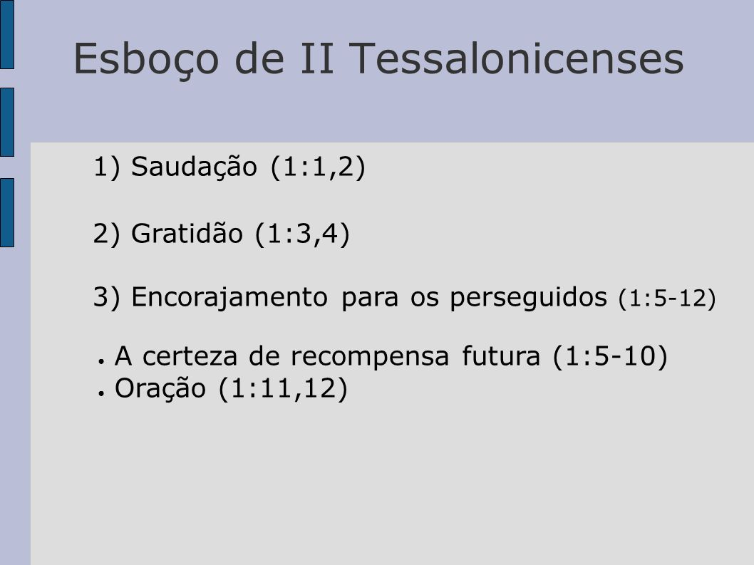 Esboço de II Tessalonicenses