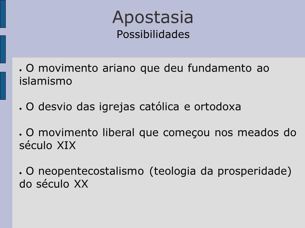 Apostasia Possibilidades