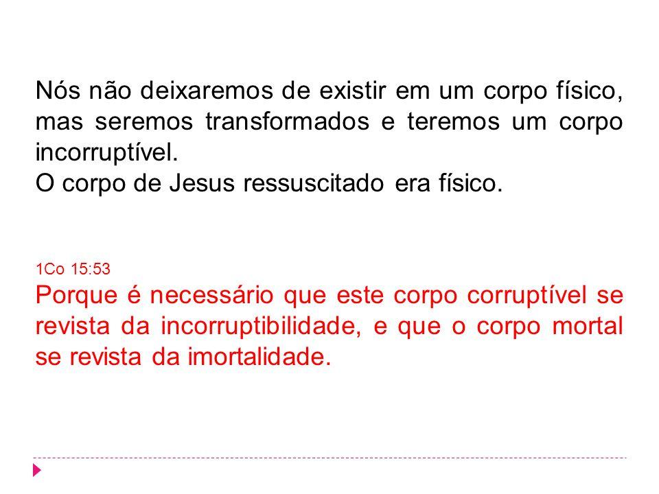O corpo de Jesus ressuscitado era físico.